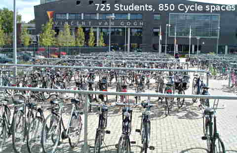 Secondary school cycle parking